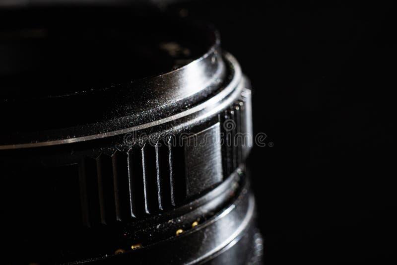 Стеклянный объектив для конца зеркальной камеры вверх стоковое изображение rf
