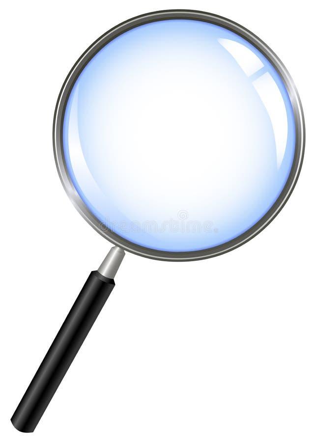 стеклянный увеличивать иллюстрация вектора