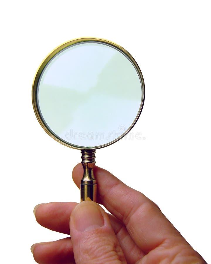 стеклянный увеличивать стоковое фото