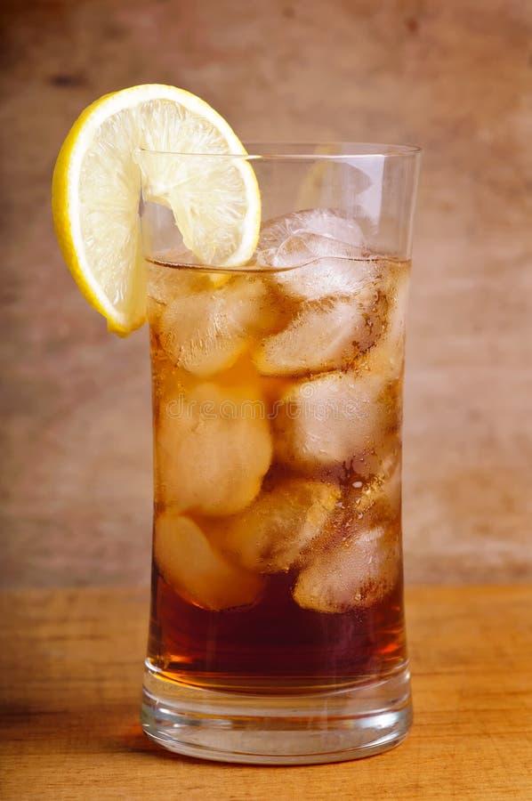 стеклянный чай льда стоковое изображение