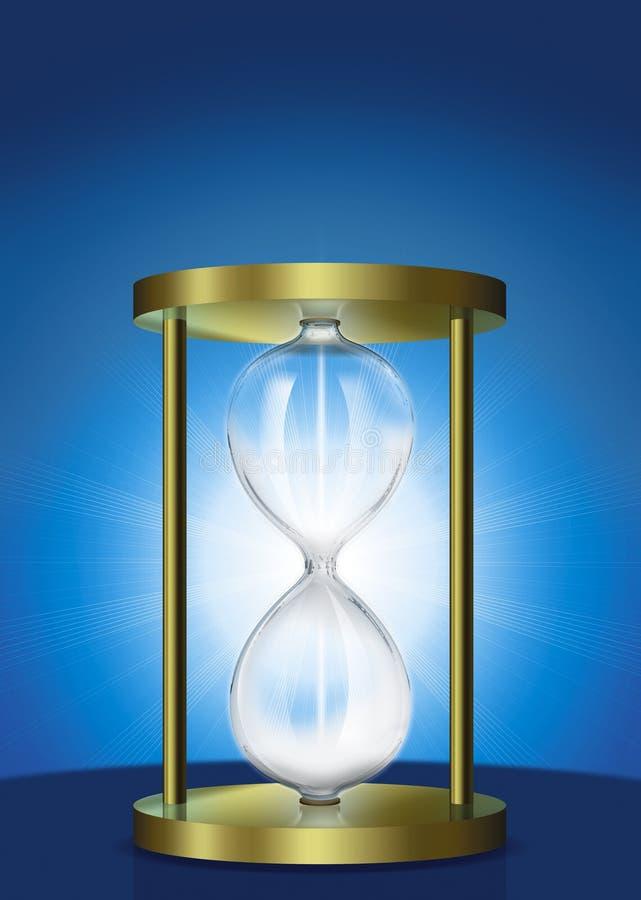 стеклянный час иллюстрация вектора