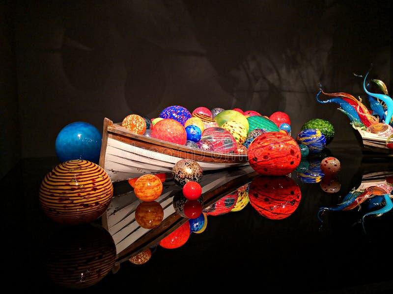 Стеклянный экспонат на саде и стекле Chihuly стоковое фото rf
