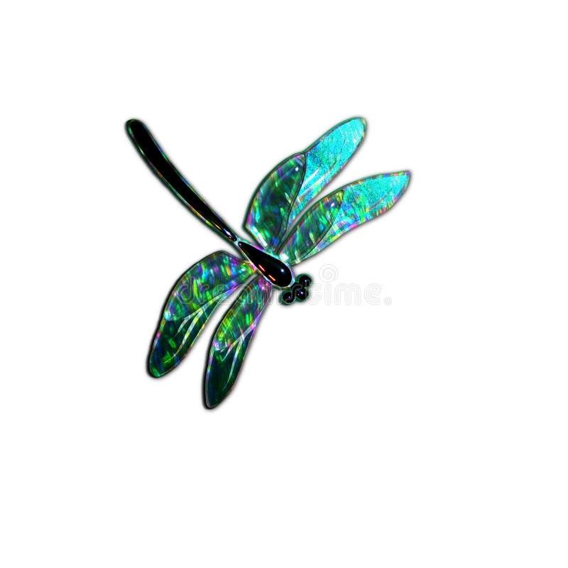 Стеклянный dragonfly с влиянием голографии стоковая фотография rf