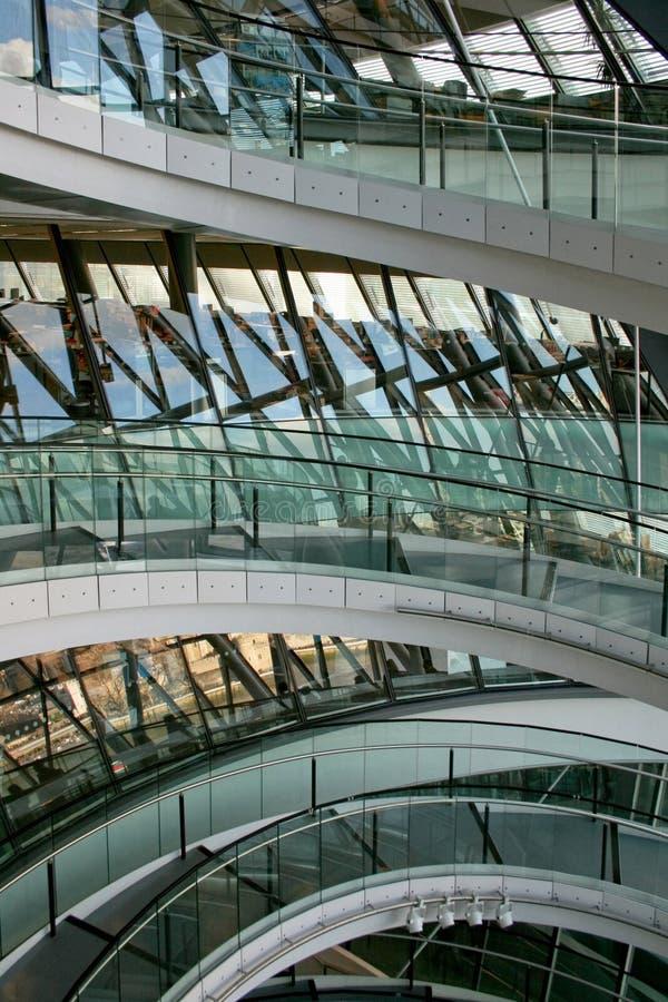 стеклянный stairway стоковая фотография rf
