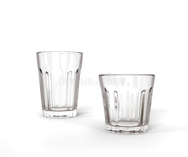 2 стекла - высокорослого и короткого стоковая фотография rf