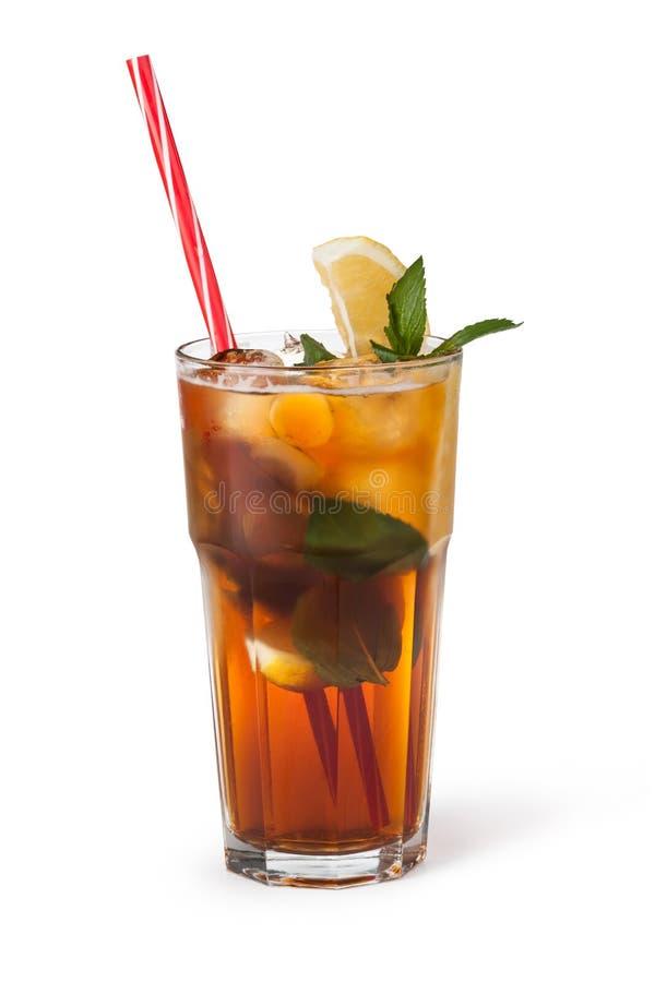 Стекла пить плодоовощ с кубами льда стоковое фото rf