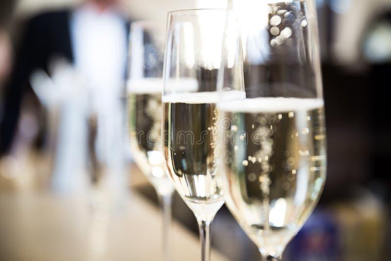 Стекла Шампани стоковое фото rf