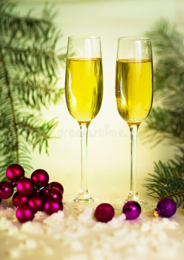 стекла 2 шампанского стоковая фотография rf