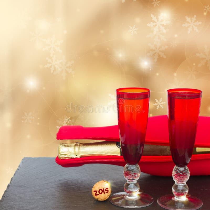 Стекла Tw шампанского рождества стоковые фото