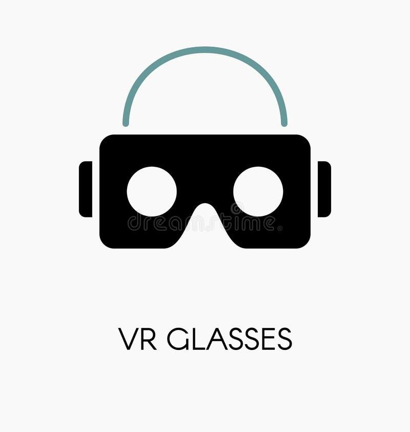 Стекла VR/шлемофон для иллюстрации вектора smartphone бесплатная иллюстрация