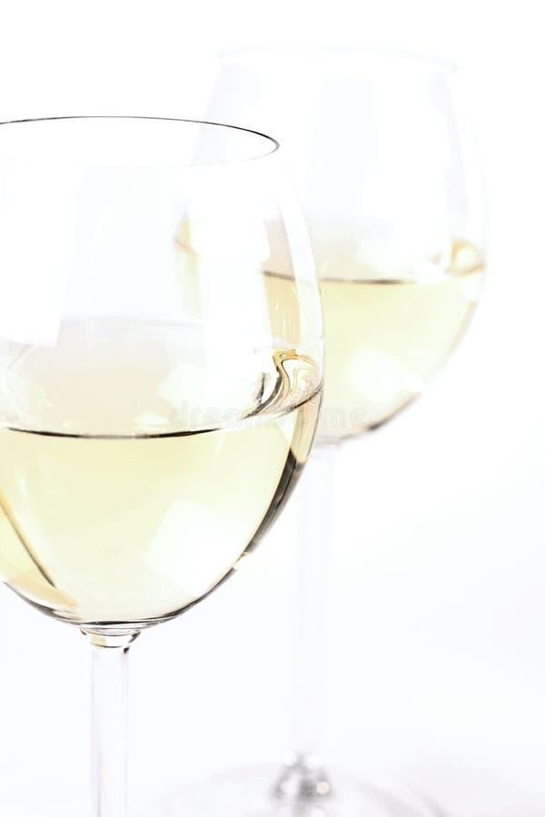 Стекло белого вина - съемки студии стоковая фотография rf