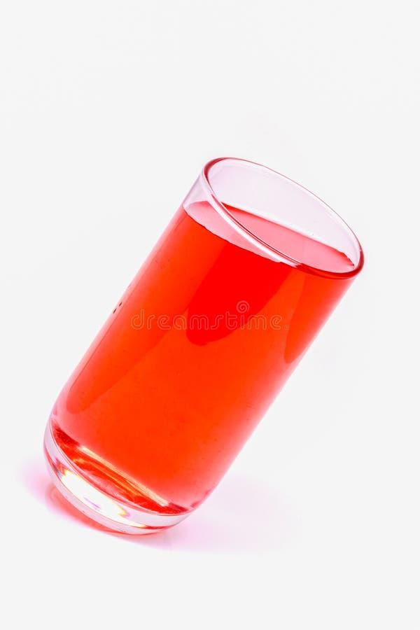 Стекло воды, воды питья, выпивает красный цвет стоковое изображение rf