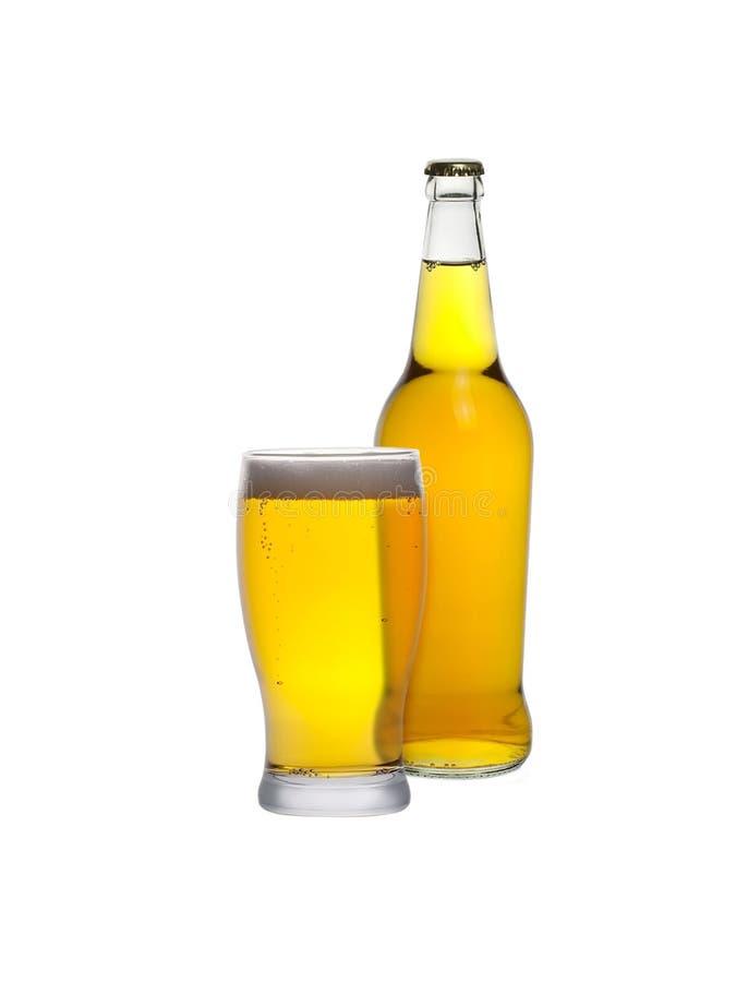 Стекло и бутылка сидра стоковое фото rf