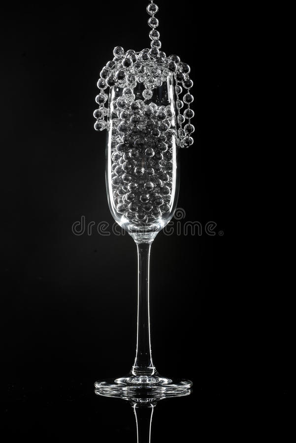 Стекло и украшения Шампани стоковые изображения