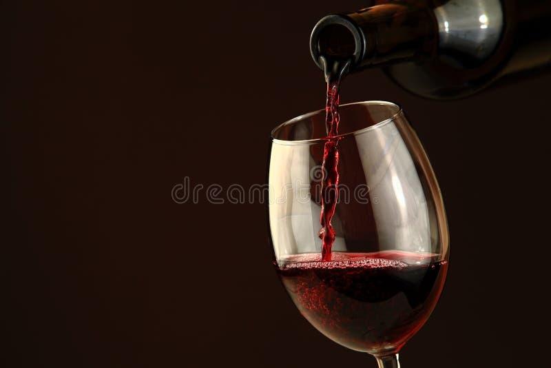 стекло красное вино стоковое изображение