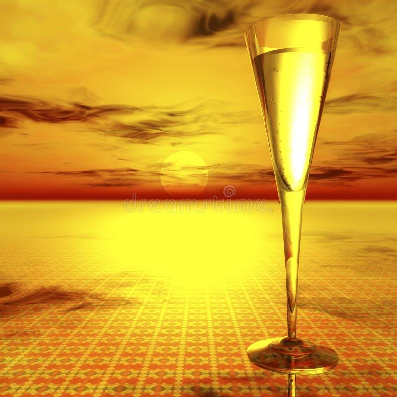 Стекло Шампани иллюстрация штока