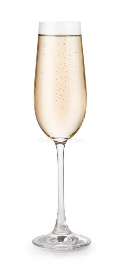 Стекло шампанского изолированное на белой предпосылке стоковая фотография rf