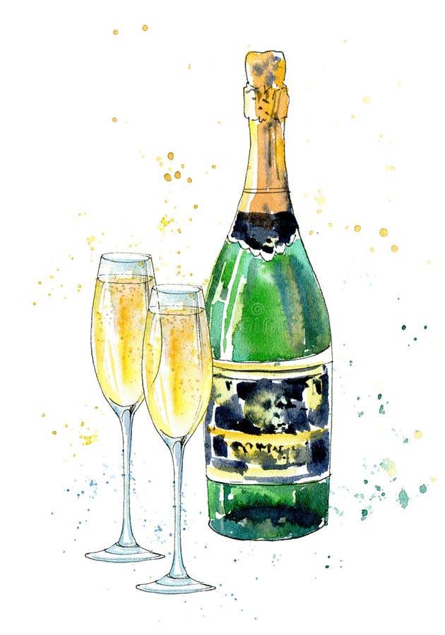 картинки шампанского карандашом удобства