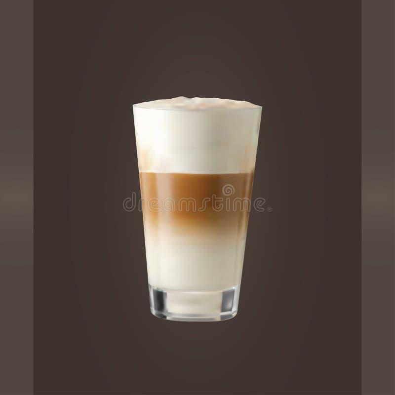 Стекло Latte вектора стоковое изображение