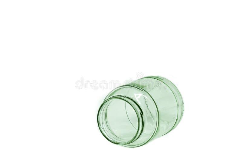 Стеклянная бутылка изолированная на белой предпосылке стоковые изображения