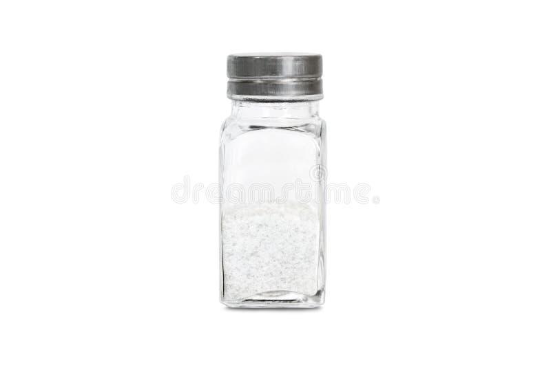 Стеклянная бутылка с солью стоковые изображения rf