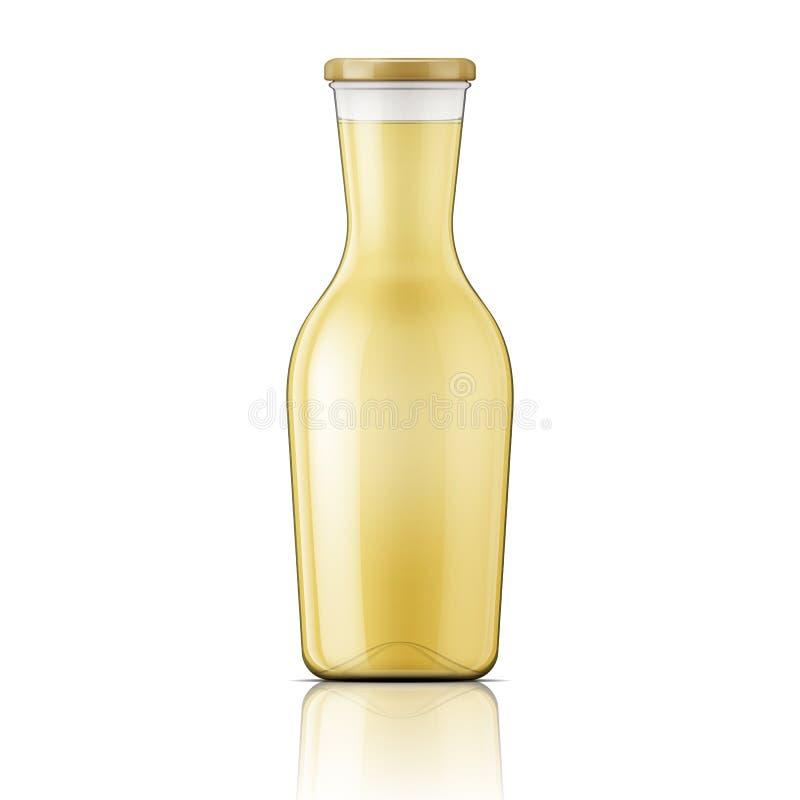Стеклянная бутылка с широкой шеей иллюстрация штока