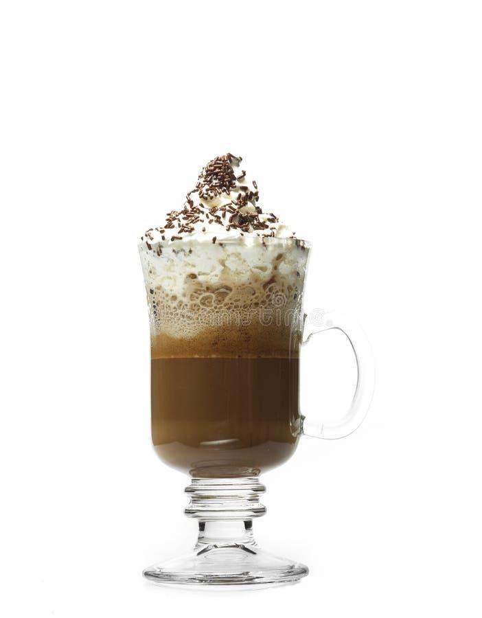 Стеклянная кофейная чашка стоковая фотография