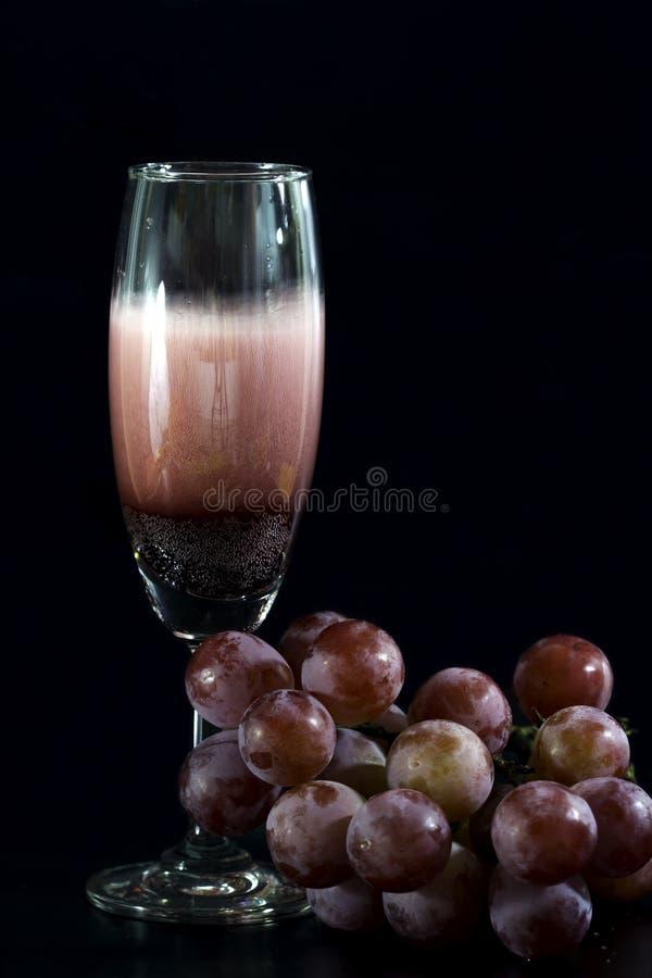стеклянное вино виноградин стоковые фото