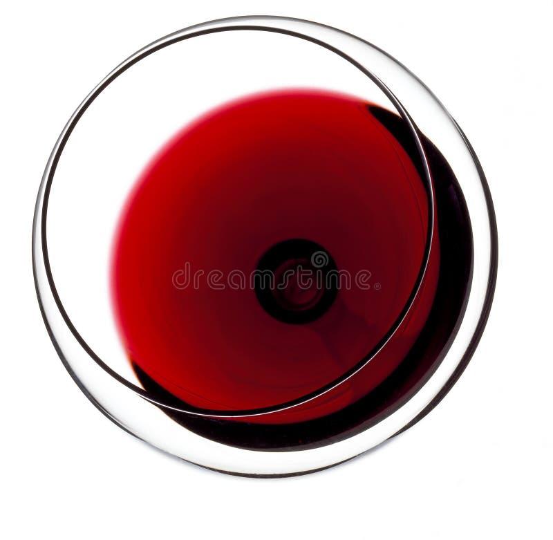 стеклянное красное вино Взгляд сверху стоковая фотография rf