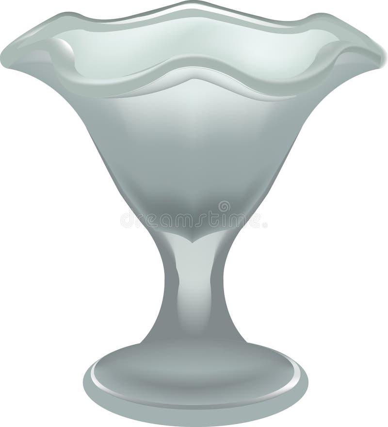 Стеклянное мороженое иллюстрация штока