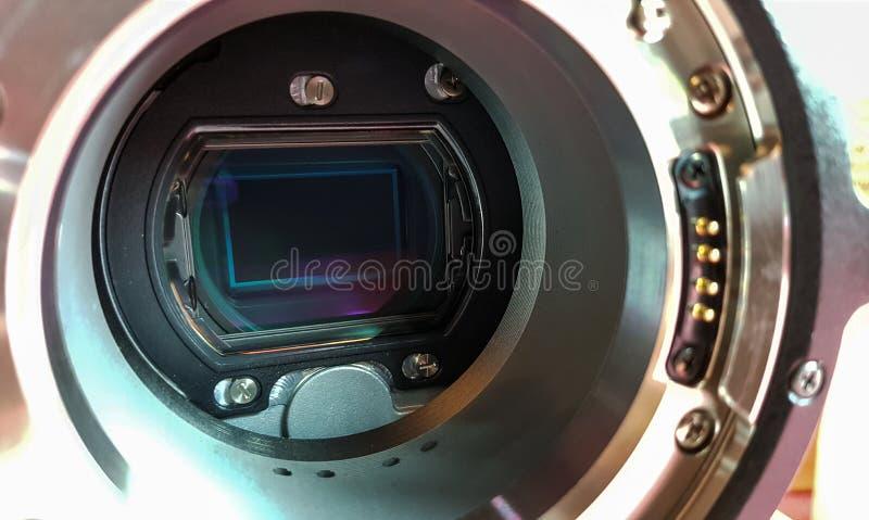 Стеклянные датчики цифровых видеокамер стоковое изображение rf