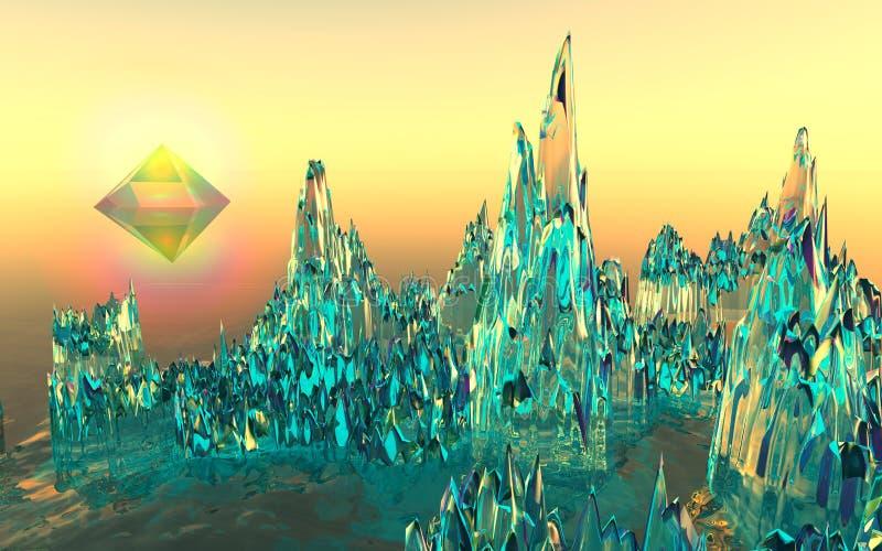 Стеклянные горы в долине пирамиды стоковая фотография