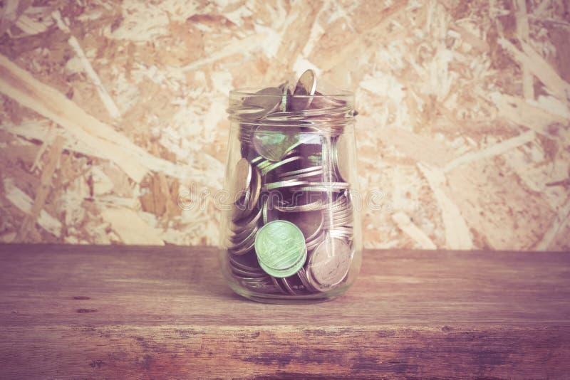 стеклянные деньги стоковые фото