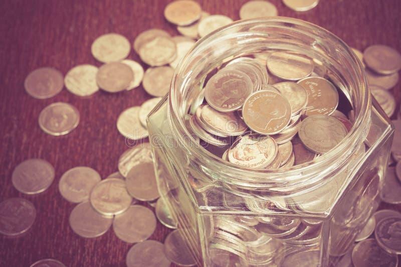 стеклянные деньги стоковое фото