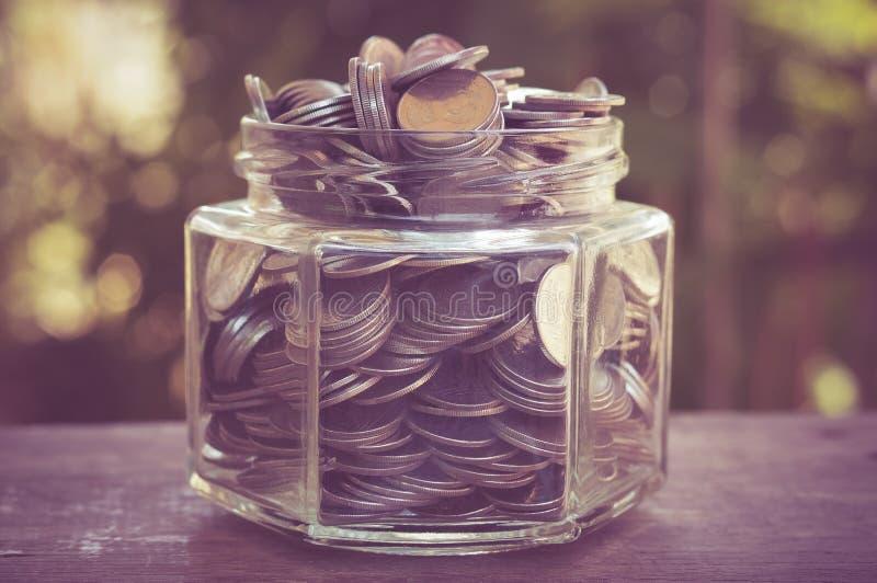 стеклянные деньги стоковое фото rf
