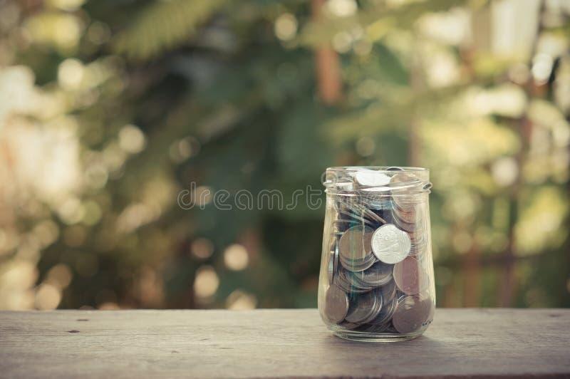 стеклянные деньги стоковое изображение rf
