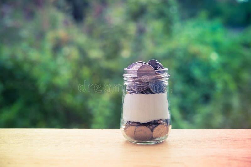 стеклянные деньги стоковые фотографии rf
