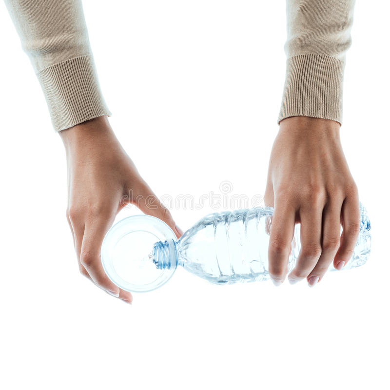 стеклянные детеныши женщины воды стоковые фото