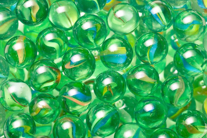 Стеклянные мраморные шарики стоковые изображения rf