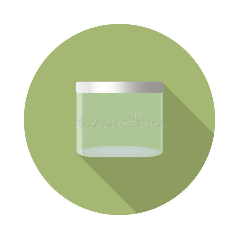 Стеклянный значок опарника иллюстрация вектора