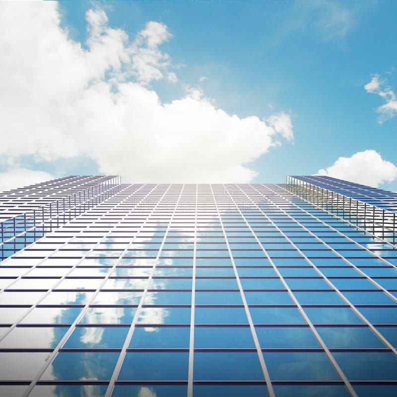 Стеклянный крупный план небоскреба иллюстрация штока