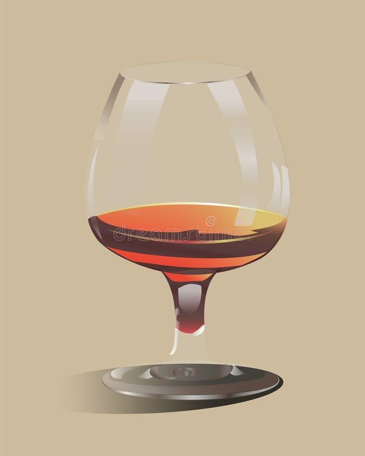 Стеклянный кубок заполненный с спиртом стоковое фото rf