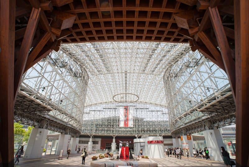 Стеклянный купол станции МЛАДШЕГО Kanazawa стоковые фотографии rf