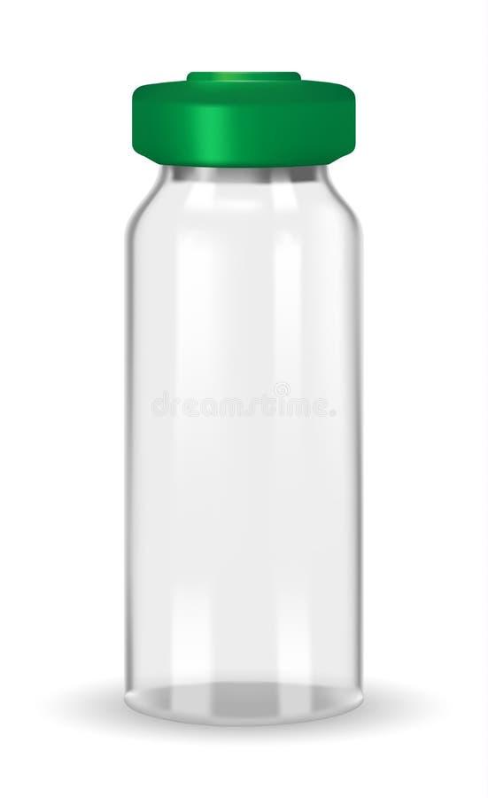 Стеклянный медицинский контейнер на белой предпосылке бесплатная иллюстрация