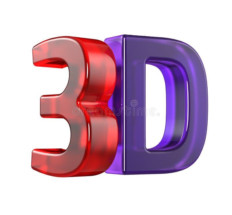 Стеклянный логотип 3D стоковая фотография rf