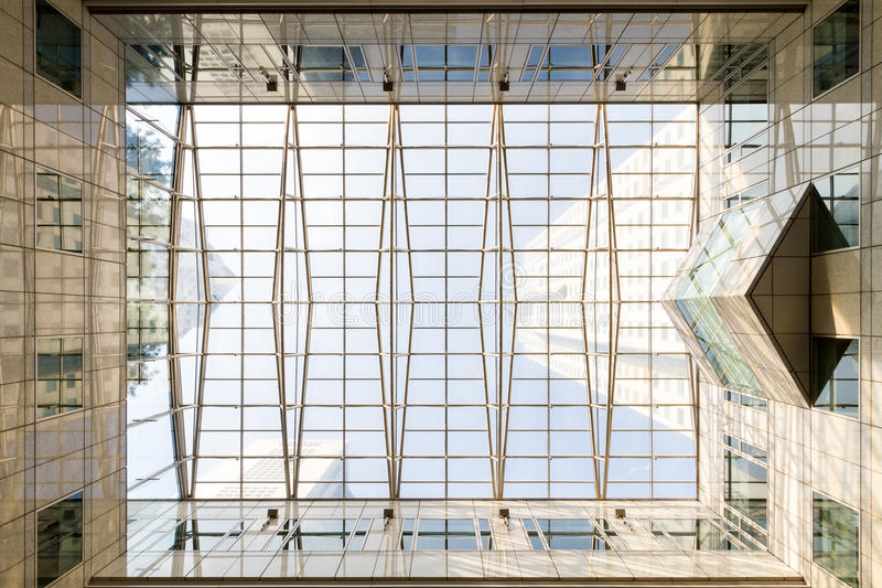 Стеклянный потолок стоковая фотография
