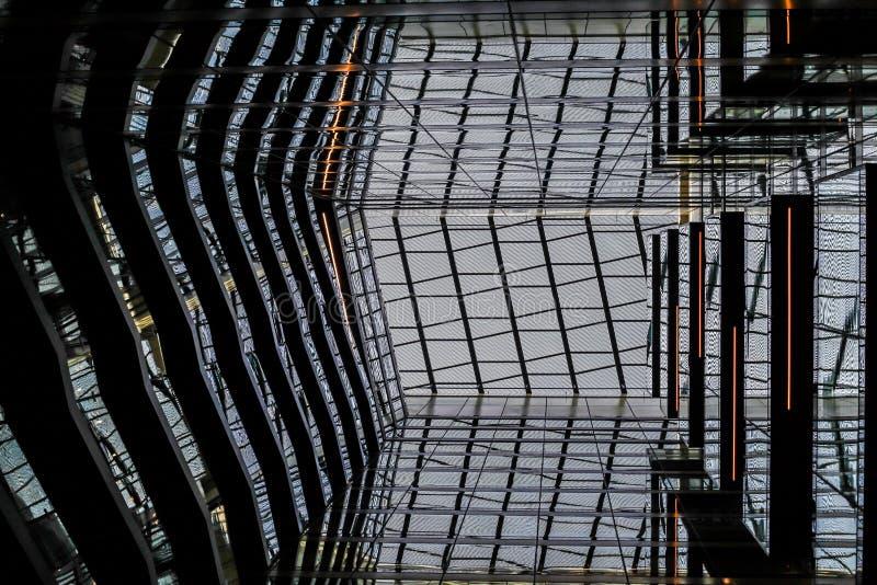 Стеклянный потолок стоковая фотография rf