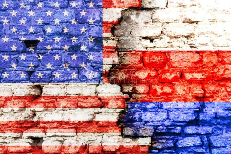 Стена Америки и России стоковое изображение