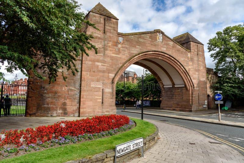 Стена Англия города Честера стоковая фотография