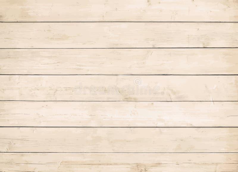Стена Брайна деревянная, таблица, поверхность пола Светлая текстура древесины вектора иллюстрация вектора